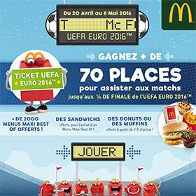Jeu 100% gagnants UEFA McDo Nord : Menus gratuits, places …