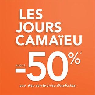 Bon plan Les Jours Camaïeu : jusqu'à 50% de réduction