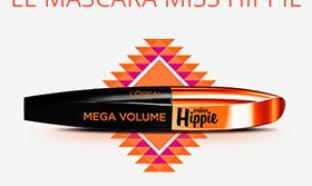 mascaras L'Oréal à tester : Miss Hippie Méga Volume