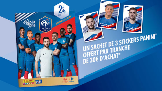 Carrefour : Cartes Panini Football à collectionner offertes