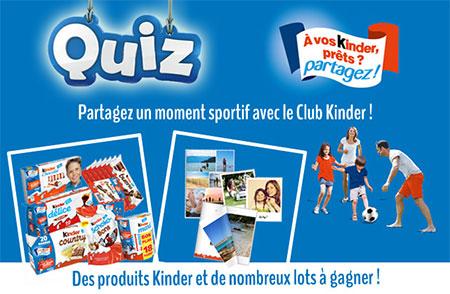 Jeu-concours Club Kinder « Partagez un moment sportif »