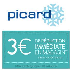 Bon de réduction Picard : 3€ de remise immédiate