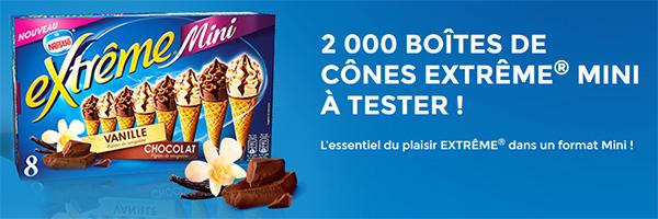 Test de glaces Extrême Mini : 2000 boîtes gratuites