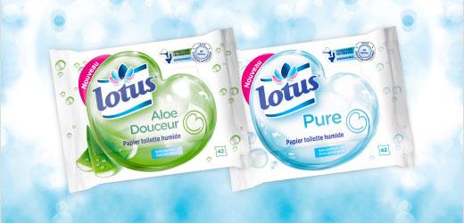 Test de papier toilette humide Lotus