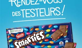 2000 tablettes de chocolat Smarties gratuites à tester