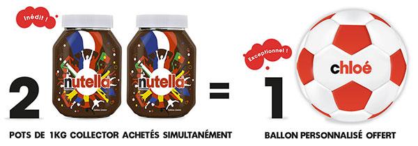 Ballon Nutella personnalisable offert