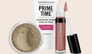 Echantillons bareMinerals + maquillage offerts chez Sephora
