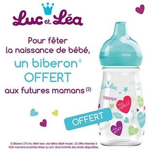 Tentez de recevoir un biberon Luc et Léa gratuit : 1000 offerts