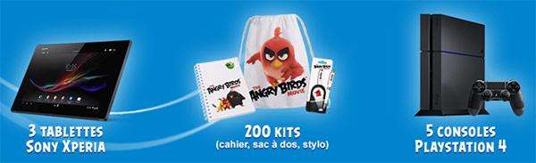 Cadeaux Angry Birds avec Joker
