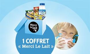 Jeu Merci le lait : 64 coffrets de 20 produits laitiers à gagner