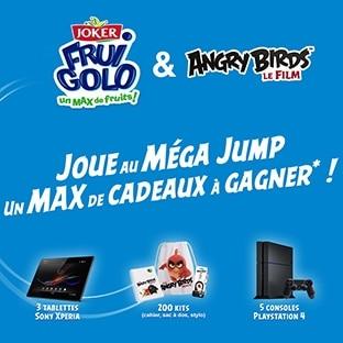 Jeu Angry Birds avec Joker : 208 cadeaux par instant gagnant
