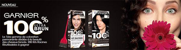 200 Kits racines 100% Ultra Brun Garnier à gagner