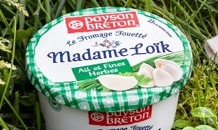 échantillon test du fromage fouetté Madame Loïk