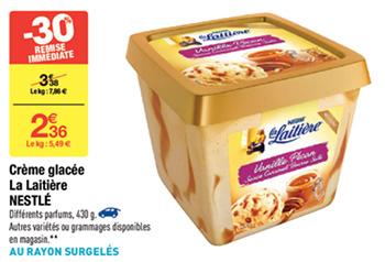 Crème Glacée La Laitière en promo chez Carrefour
