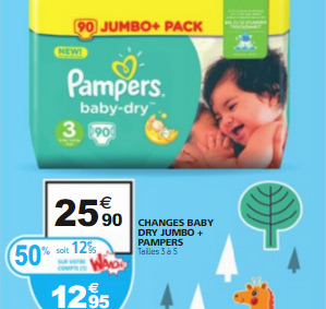 Bon plan Pampers Auchan