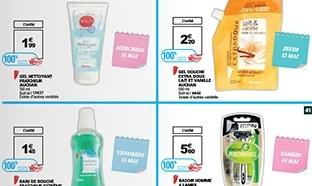 Promotion Auchan : 6 produits de beauté gratuits