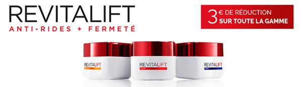 bons de réduction L'Oréal Paris Revitalift