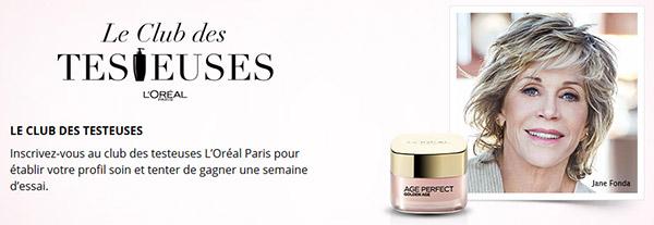 Recevez un lot d'échantillons L'Oréal de la gamme Age Perfect Golden Age
