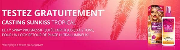 Testez gratuitement le spray Sunkiss Tropical de L'Oréal Paris
