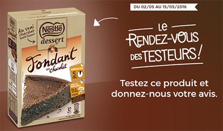 fondants Nestlé Dessert gratuits avec Croquons la Vie