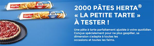 2000 pâtes à tarte Herta petit format à tester gratuitement