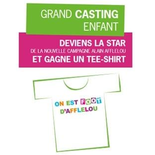 Afflelou : 50'000 t-shirts gratuits + 1 chance de devenir Star
