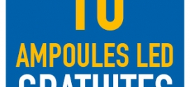 MesAmpoulesGratuites.fr : pack de 10 ampoules LED gratuites