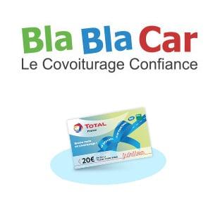BlaBlaCar : Covoiturage = 20€ de carburants offerts