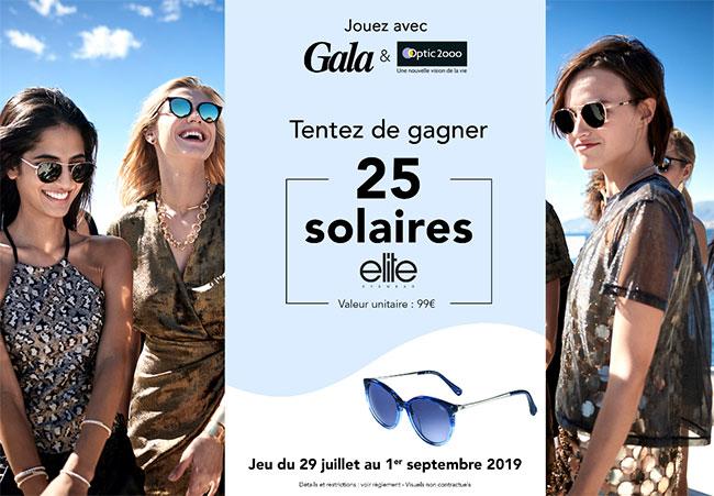 25 paires de lunettes de soleil Elite collection Optic 2000 à remporter