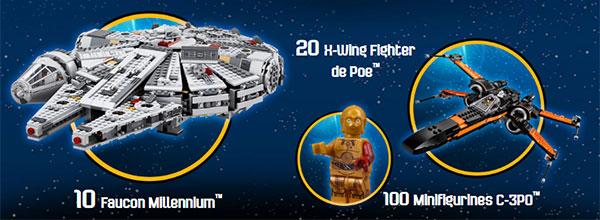 Cadeaux Lego Star Wars à gagner
