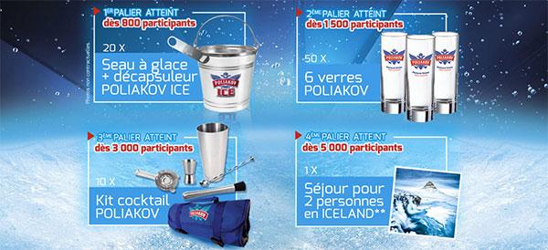 80 cadeaux Poliakov et 1 voyage en Islande à gagner