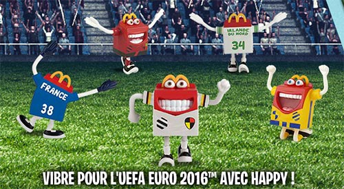 Figurines Happy Euro 2016 à collectionner