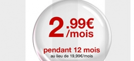 Vente Privée : Forfait Free mobile illimité à 2,99€ par mois