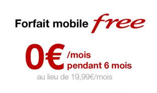 Forfait Free mobile illimité gratuit