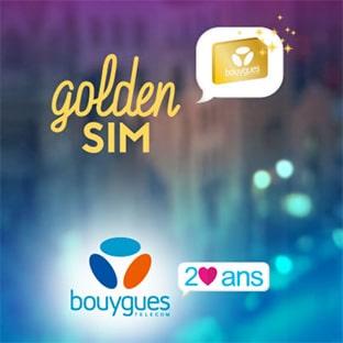 Jeu Golden Sim Bouygues : 200 abonnements de 2 ans gratuits