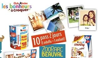 586 cadeaux Kinder et 10 pass pour le Zoo de Beauval à gagner