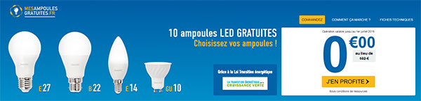 mes ampoules gratuites 30 ampoules led 100 gratuites. Black Bedroom Furniture Sets. Home Design Ideas