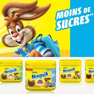 Test Les Initiés : Chocolat Nesquik moins de sucres gratuit