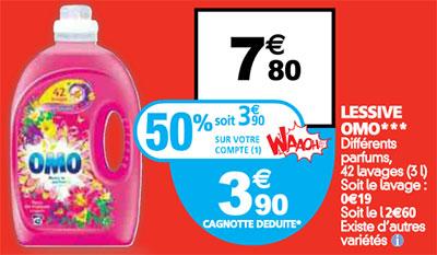 Promotion Lessive OMO chez Auchan