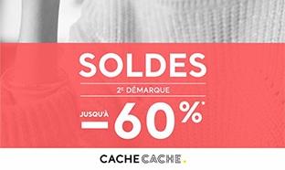 Soldes Cache Cache : Jusqu'à 60% de réduction + 1 bijou offert