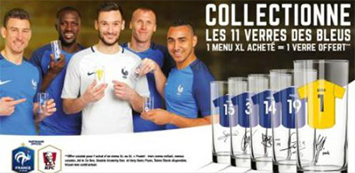 KFC : Verres Euro 2016 à collectionner offerts