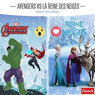Jeu Flunch : 32 poupées Reine des Neiges et Avengers à gagner