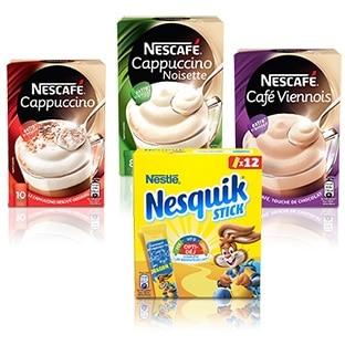 Test de sticks Nesquik et Nescafé : 4000 boîtes gratuites