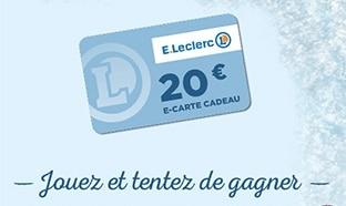 Jeu Leclerc Fête des Glaces : 660 e-cartes cadeaux de 20€