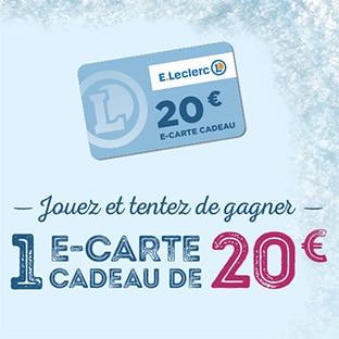 Jeu Leclerc Fête des Glaces : 660 cartes cadeaux de 20€