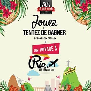 Jeu La Boîte à Pizza : 1 séjour à Rio et 420 cadeaux à gagner