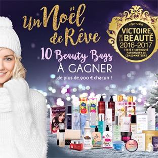 10 Beauty Bags (avec + de 900€ de produits de beauté) à gagner