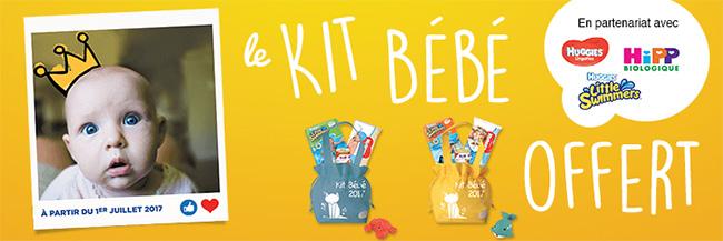 Produits bébés gratuits : Kits bébés offerts chez Total