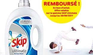 Lessive 100% remboursée : Skip Ultimate Semi-Concentré gratuite
