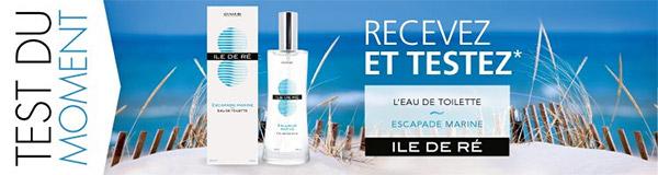 100 parfums Escapade Marine d' Ile de Ré à tester gratuitemen